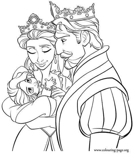 coloring pages of baby rapunzel king queen and baby rapunzel coloring page bella s 5th