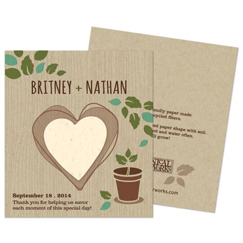 How To Make Seed Paper Favors - herb rustic wedding favor plantable seed wedding favors
