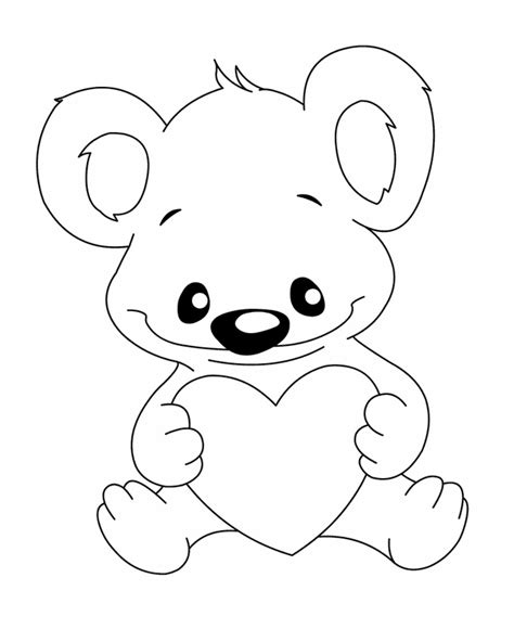 coloring pages of teddy bears with hearts teddy bear coloring pages for kids