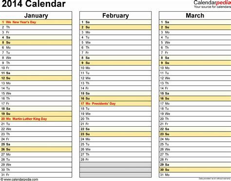 free excel calendar template 2014 9 ms excel calendar template 2014 exceltemplates