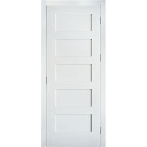 Krosswood Doors 30 In X 80 In Shaker 5 Panel Primed Mdf Interior Door