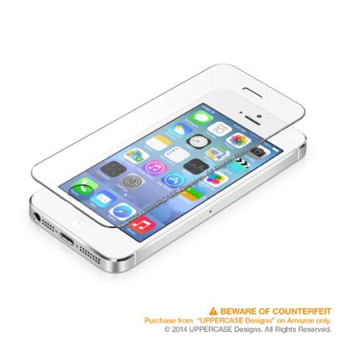Iphone 5 5s Mattedoff Black Premium Tempered Glass uppercase premium tempered glass screen protector for