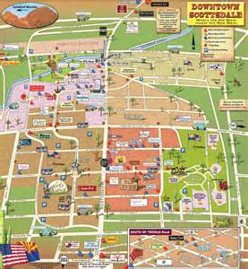 scottsdale map map travel holidaymapq