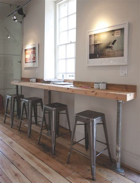 This bar is a simple way to create more seating in a small