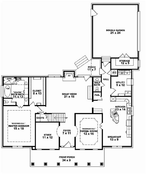 One And A Half Story House Plans | baby nursery walk out ranch house plans one and a half