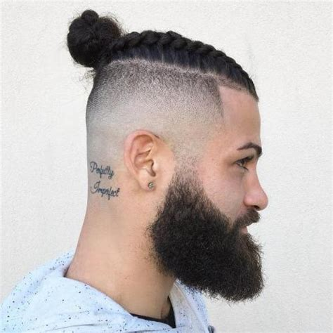 hair cuts men long hair shaved side bun 20 man bun styles for not your next door guy