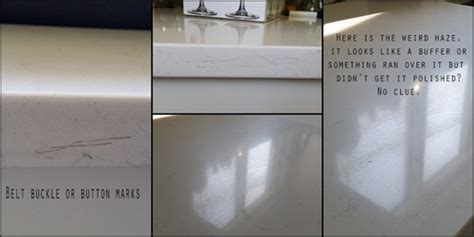 white quartz countertops and staining