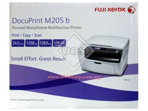 Fuji Xerox M205 B Original Ct201609 fuji xerox personal monochrome multifunction printer docuprint m205 b scan copy print uos