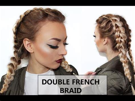 double dutch/ french braid hair tutorial// doppelter