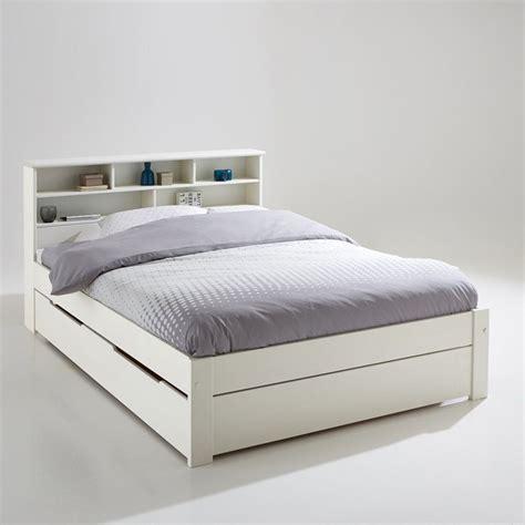 ensemble lit t 234 te de lit et sommier nikk 246 blanc la