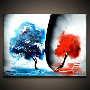 Dranitsin original abstract canvas painting ideas for beginners
