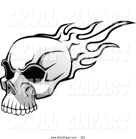 black and white flaming skulls pictures to pin on