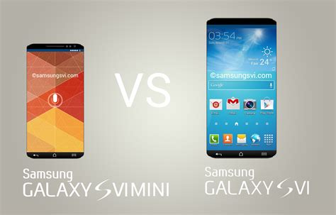 Samsung Galaxy S6 samsung galaxy s6 mini vs s6