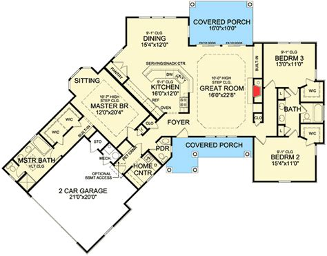 angled house plans rustic angled ranch home plan 3877ja 1st floor master