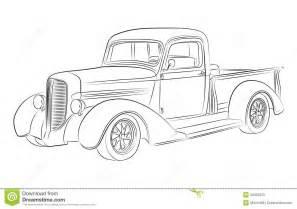 de tekening van de hotrodbestelwagen stock foto s