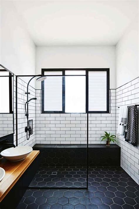 incredibly stylish black  white bathroom ideas