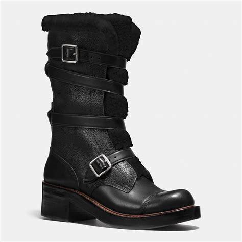 moto boot coach moto boot in black lyst