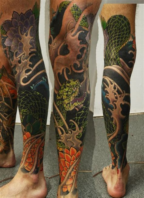 japanese leg tattoos for men leg tattoos and designs page 67