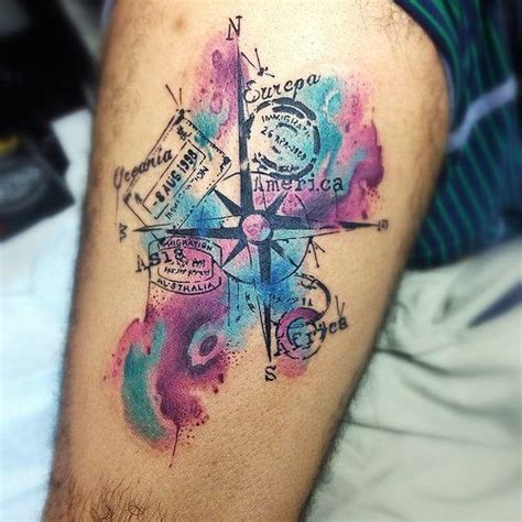 watercolor tattoos fade best 25 watercolor compass ideas on