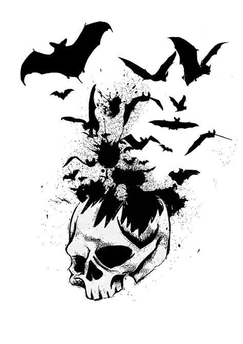 skull bats by kreld on deviantart