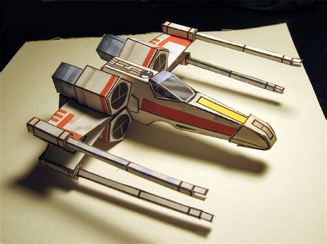 X Wing Papercraft - wars x wing papertoy paper fr