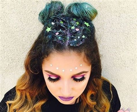 hairstyles like space buns space buns get the ultimate party perfect hairstyle here