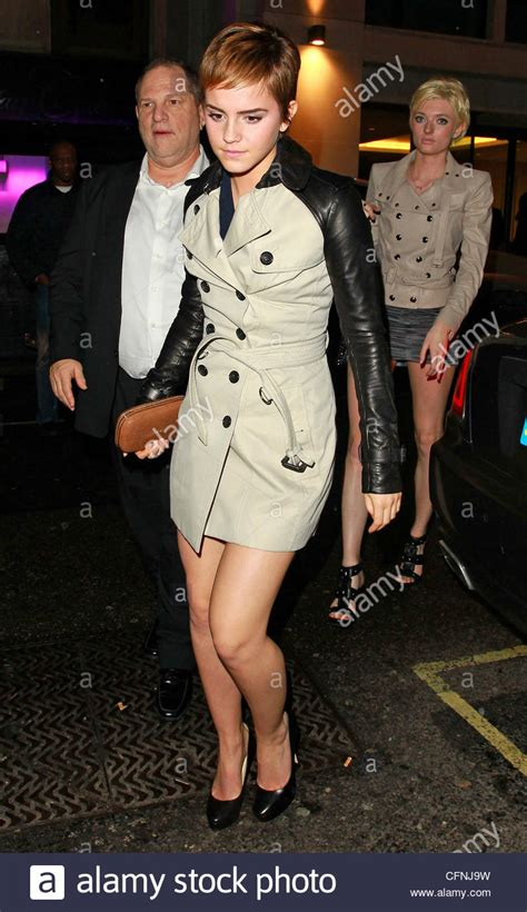 emma watson and weinstein emma watson and harvey weinstein leave mahiki club after