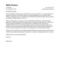 Associate Director Cover Letter by Assistant Director Cover Letter Sle My Cover Letter
