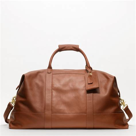 coach large cabin bag in brown for lyst