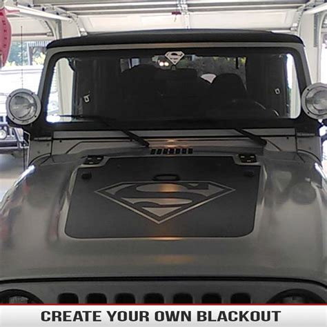 jeep hood stickers make your own hood blackout custom hood blackouts from