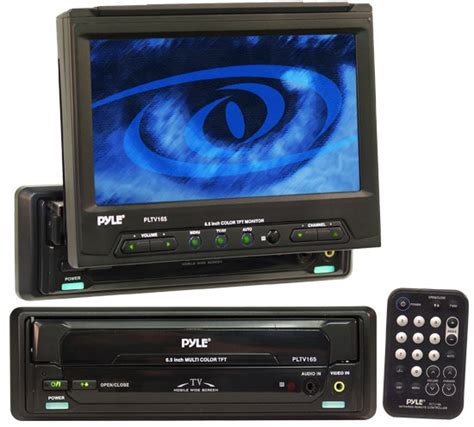 Monitor Built In Tv Tuner in dash motorized 6 5 tft monitor w built in tv tuner