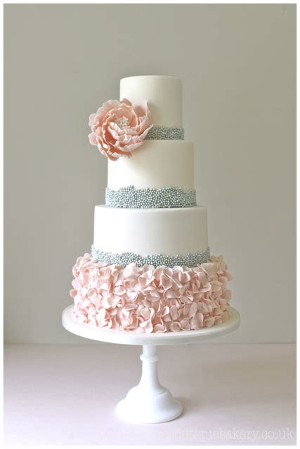 Free Home Decorating Magazines by Wedding Cake Surrey Great Fosters Beaded Ruffle Cake