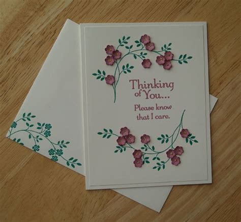 simple thinking of you card created using the thoughts and