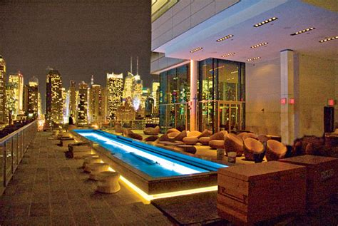 new york top bars rooftop bar press opens on the sixteenth floor of the ink48 hotel in hell s kitchen