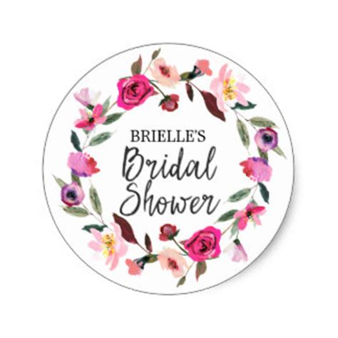 Shower Stickers by Bridal Shower Stickers Zazzle