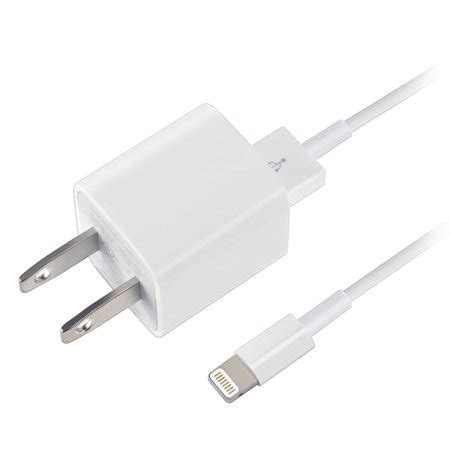 apple usb home travel charger adapter/ lightning cable