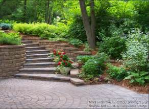 Evergreen Outdoor Lighting - driveway steps leading up a curving hillside minnesota