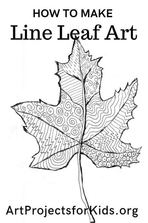 leaf  drawing art projects  kids