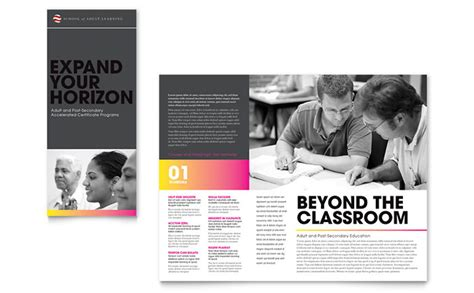college brochure templates education business school tri fold brochure