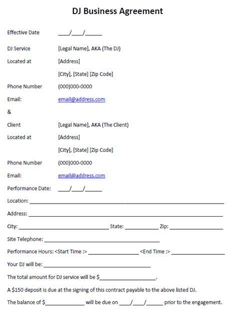 biodata format for video jockey dj business agreement printable agreements dj