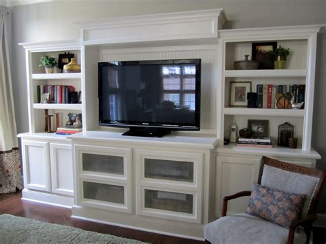 custom built in shelves bookcase entertainment center