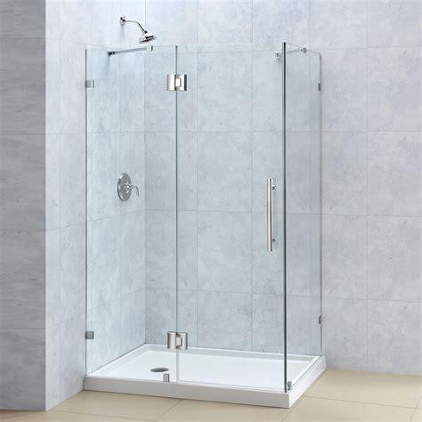 dreamline shen 133 quatralux frameless hinged shower