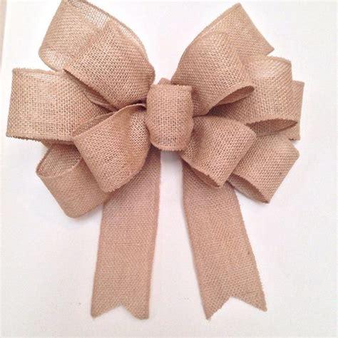 wired edge burlap bow big wreath bow wedding bow