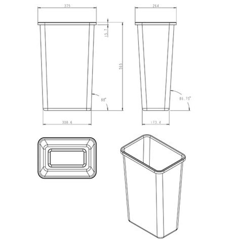 scow back waste containers hardware resources shop can 50lid pull out waste bins