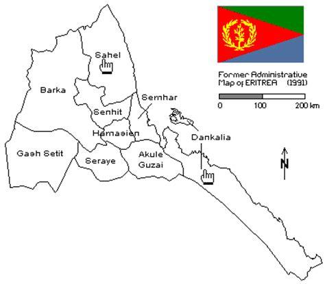 eritrean news: geographical location of eritrea