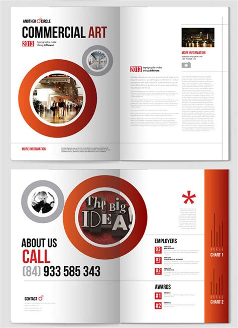 design brochure templates 20 simple yet beautiful brochure design inspiration