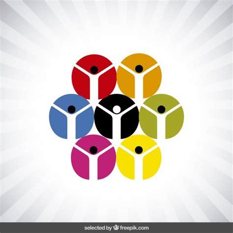 charity logo  circular human icons vector