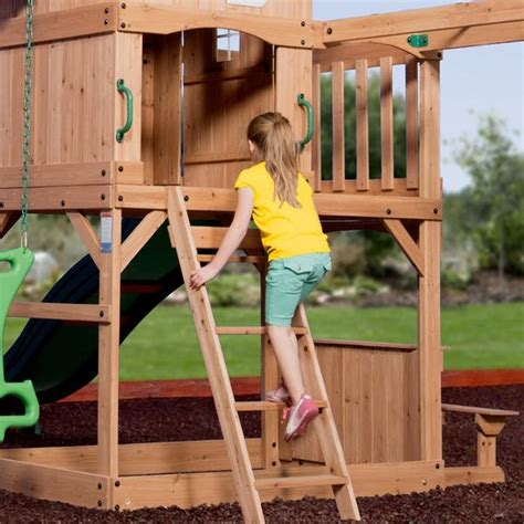 backyard discovery montpelier cedar swing set montpelier wooden swing set playsets backyard discovery