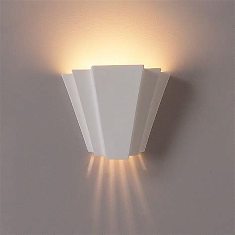 Interior Wall Lighting Fixtures 9 5 Quot Landmark Geometric Wall Sconce Contemporary Ceramic Interior Wall Sconces Modern