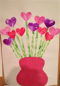 preschool valentines day crafts s day flower craft child paints a of